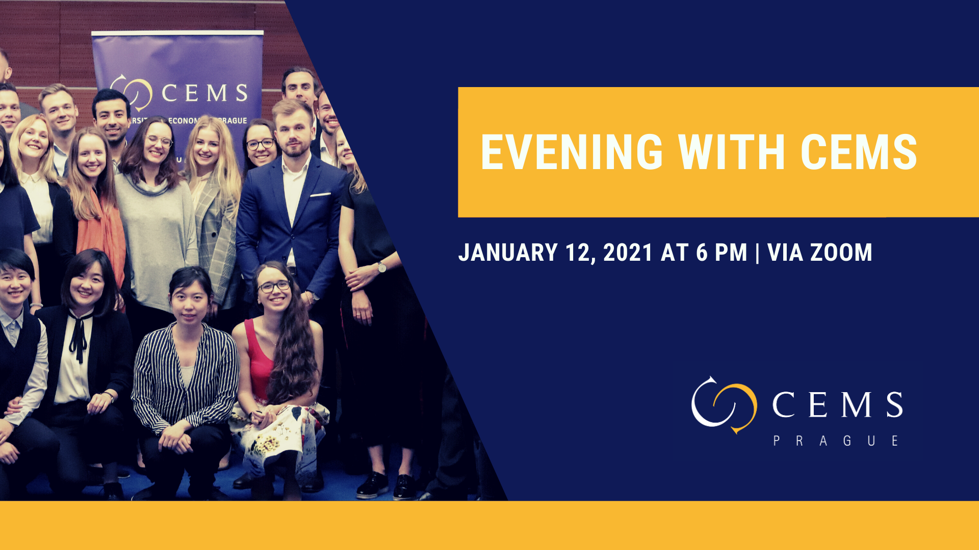 Interested in CEMS? Join Us Online for Evening with CEMS /January 12, 2021/